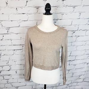 Brandy Melville Tan Crop Sweater